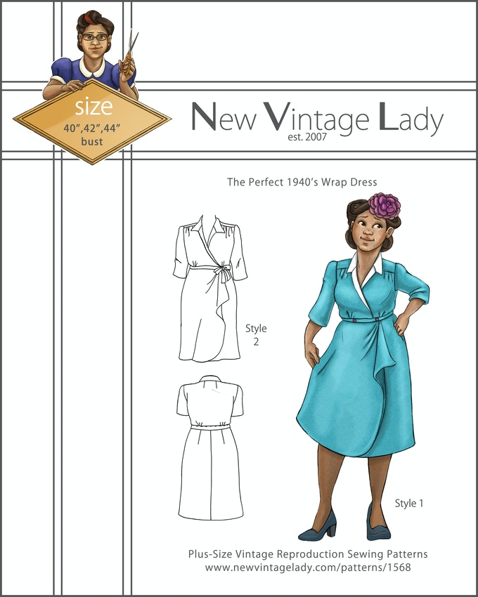 New Vintage Lady Plus Size Sewing Patterns 2017 Collection By