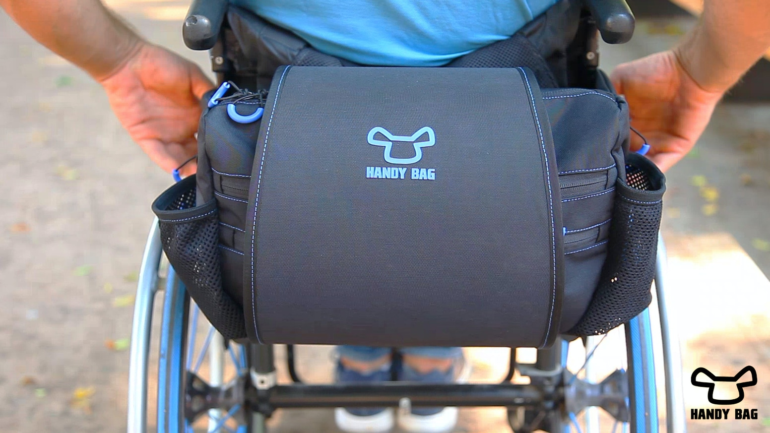 A revolutionary design allowing easy access to personal belongings for wheelchair users