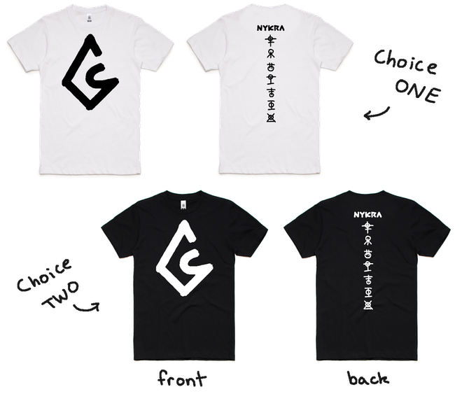If you choose the Apparel Tier or higher, you get to choose 1 of these clean tees!