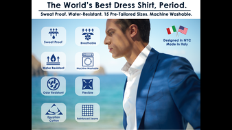Sweat Proof Dress Shirts with built in Water Resistance!