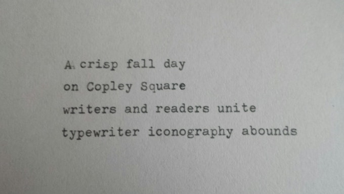 A wee little example poem