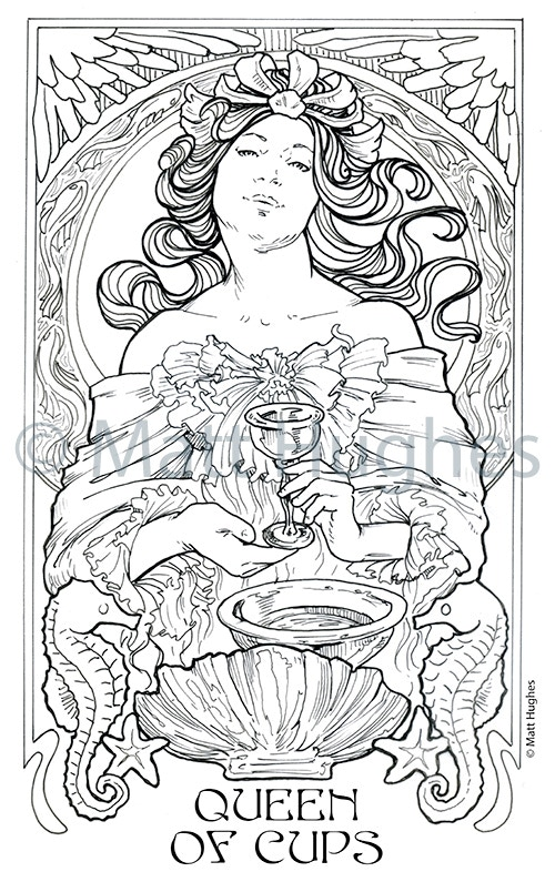 Ethereal Visions Tarot Coloring Book - Art Nouveau by Matt