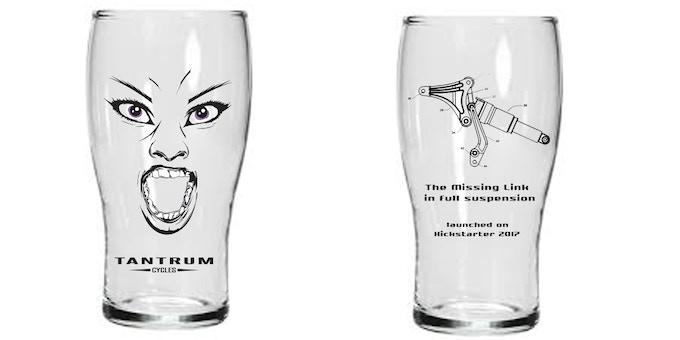 Kickstarter exclusive pint glass. Cheers!