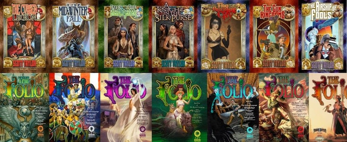Just a few of the great books and games produced by AotG through Kickstarter