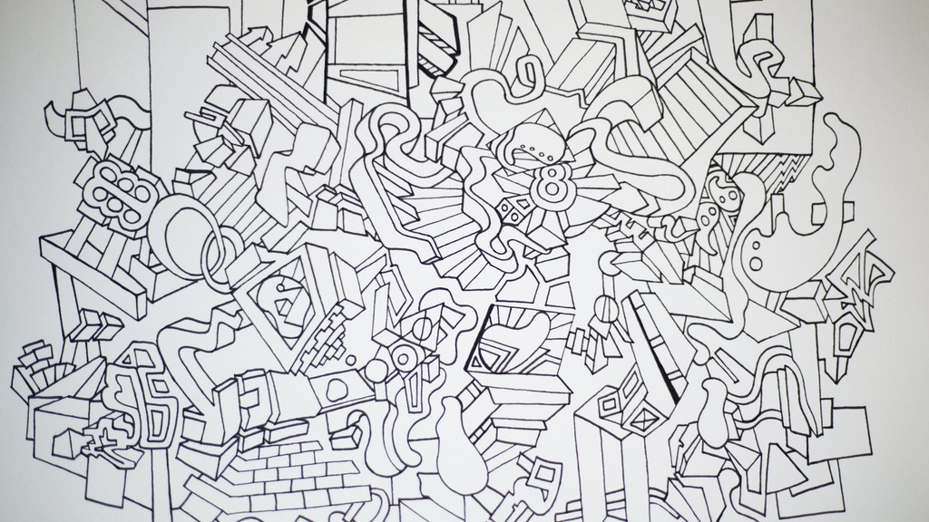 zone out between the lines a hand drawn adult coloring book project video thumbnail - Coloring Book Project