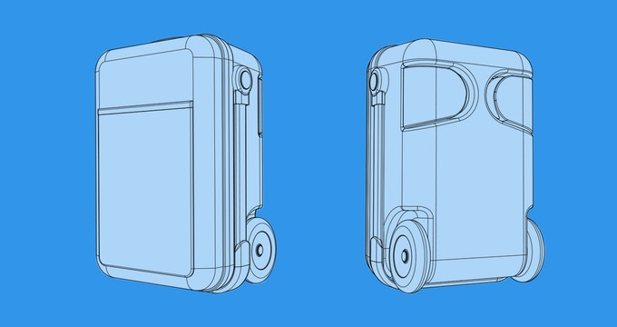 Drawing of possible aesthetic case design refinements.