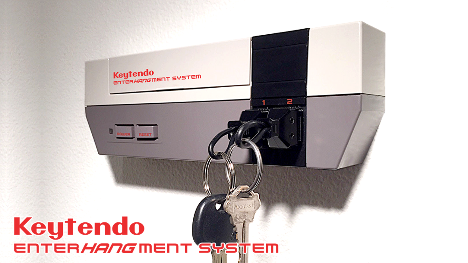 The wall mountable video game console key rack... for you and your player 2!