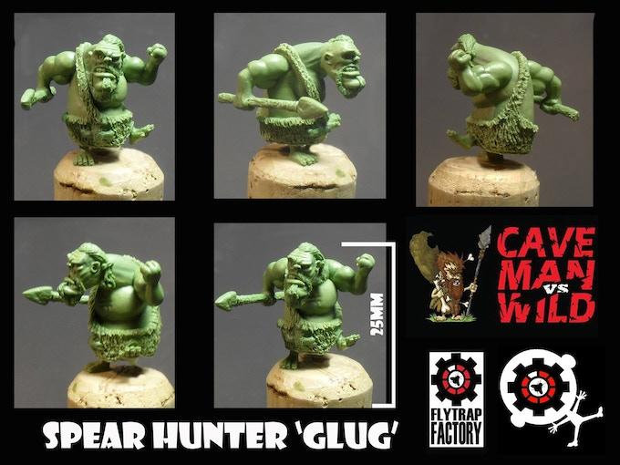 Glug the Tribal Hunter (28mm Tall)
