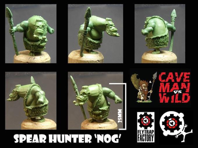 Nog the Tribal Hunter (28mm Tall)