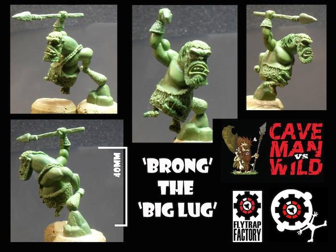 Brong the Tribal Hunter 'Big Lug' (40mm Tall/head)