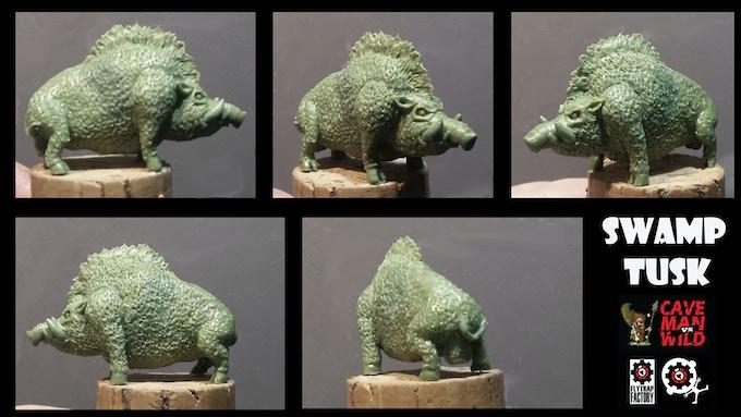 Swamp Tusk Boar (30mm Tall)