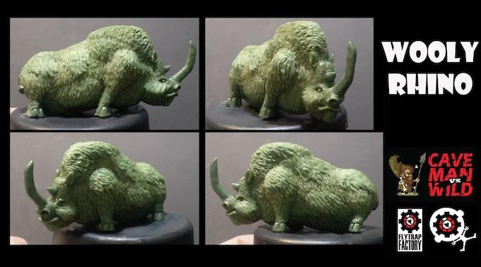 Woolly Rhinoceros (40mm Tall)
