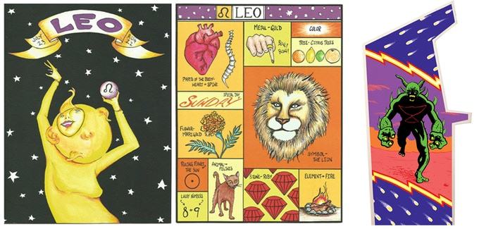 Original Astrology Zine by Kat Roberts & Arkazoid Arcade art by Charles Forsman