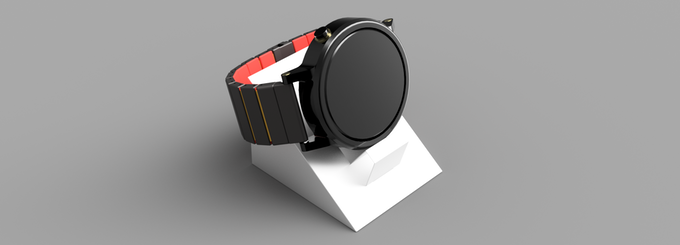 A postcard that transforms into a watch stand!