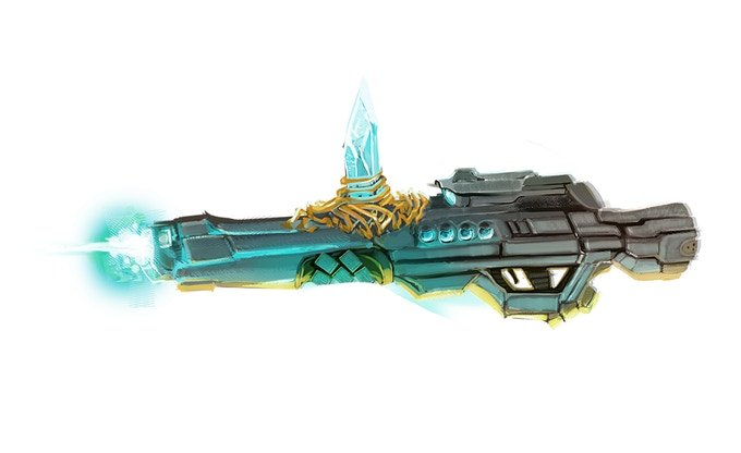 Plasma rifle with a magic Stone of Containment