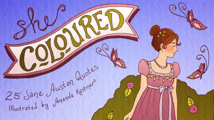 Color you way through 25 of Jane Austen's witty quotes paired with original hand-drawn ink illustrations in this adult coloring book!