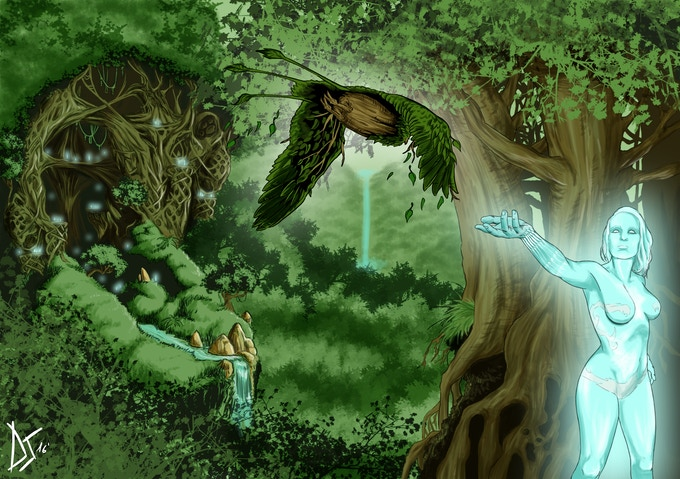 The forest of Fanduil, where creatures of light and sentient vegetables live