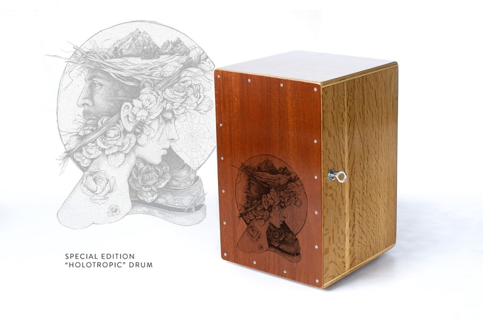 """Special edition, limited run of 5 cajón drum. Available here only. See """"Music Maker Bundle"""" reward."""