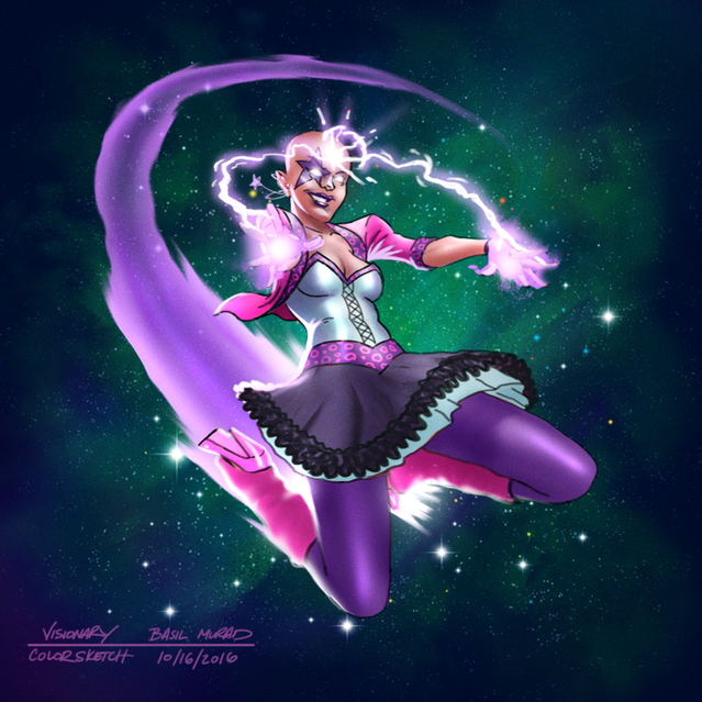 Concept Art for The Visionary promo character