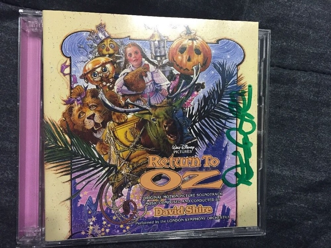 Signed 2-Disc Set of Return to Oz CD by David Shire
