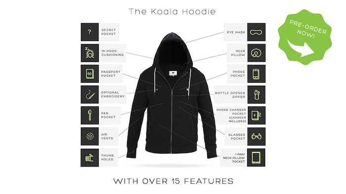 16+ FEATURES: This hoodie can charge your phone and much much more! Sign up at www.koalahoodie.com to be the first to find out when it's released:
