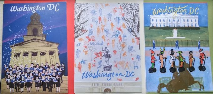 Unique DC Holiday Cards by Carlos Carmonamedina!