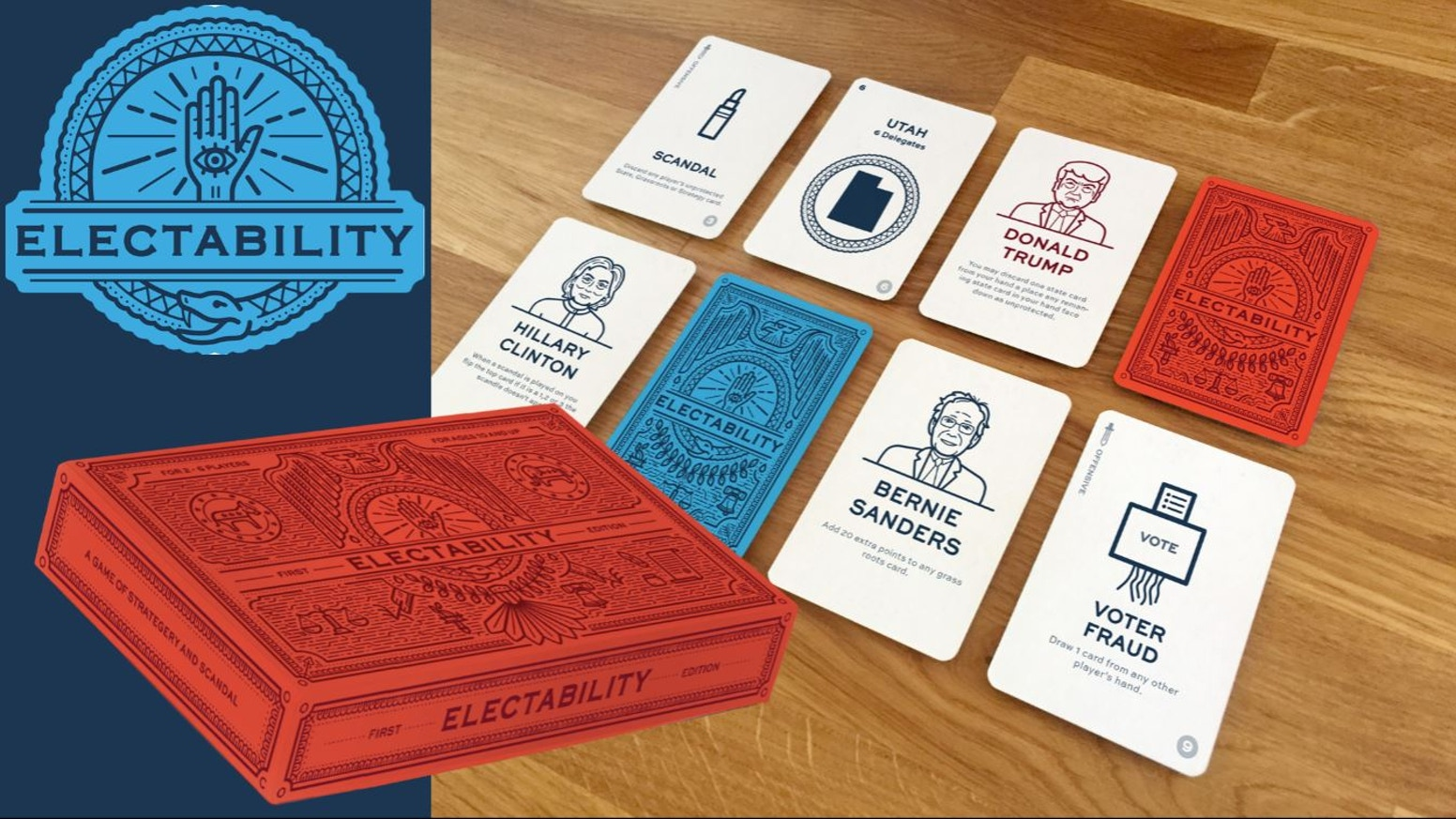 Electability: Political Parody Card Game by Delta Bravo Games ...