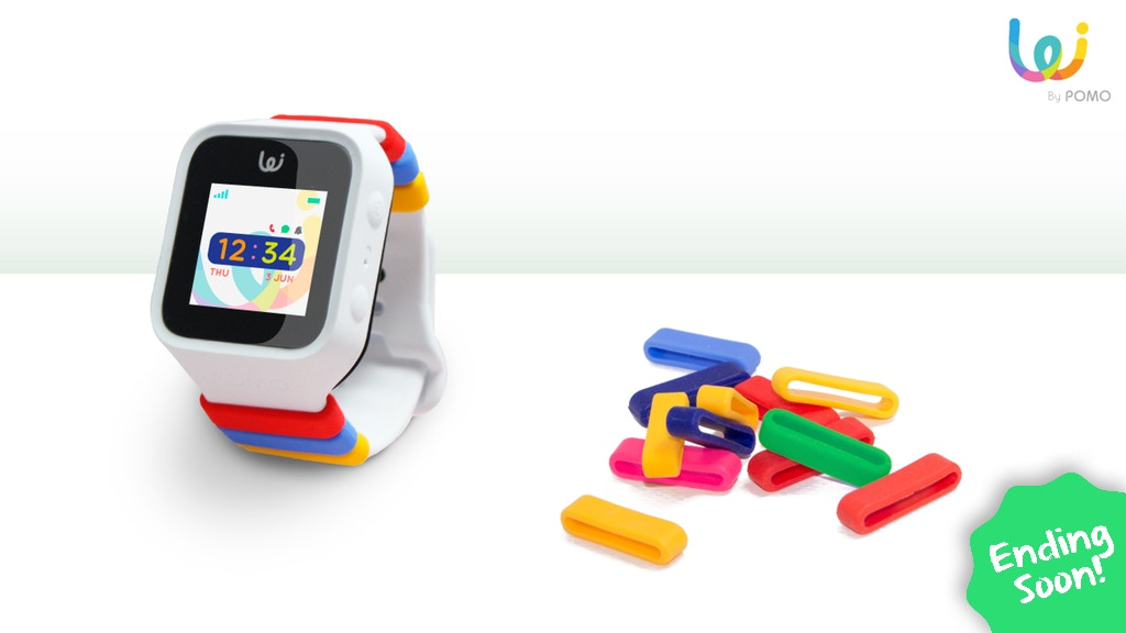 The First Fashionable GPS Smart Watch for Kids - POMO Waffle project video thumbnail
