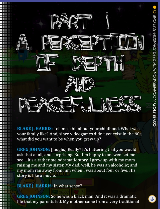 """The cover page for our """"Conversation with Greg Johnson"""" feature"""