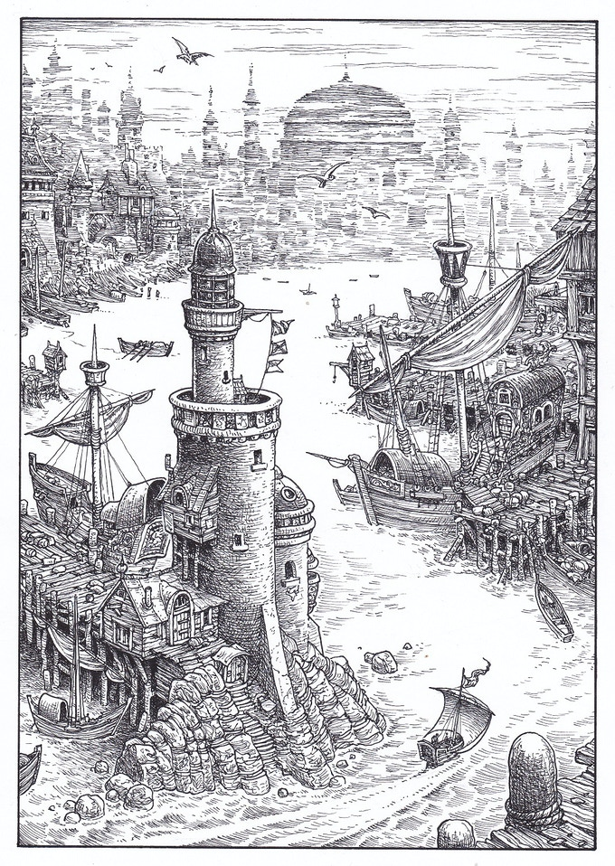 SOLD - NO LONGER AVAILABLE - New Collector's Edition interior illustration (section 140)  by Gary Chalk for Megara Entertainment