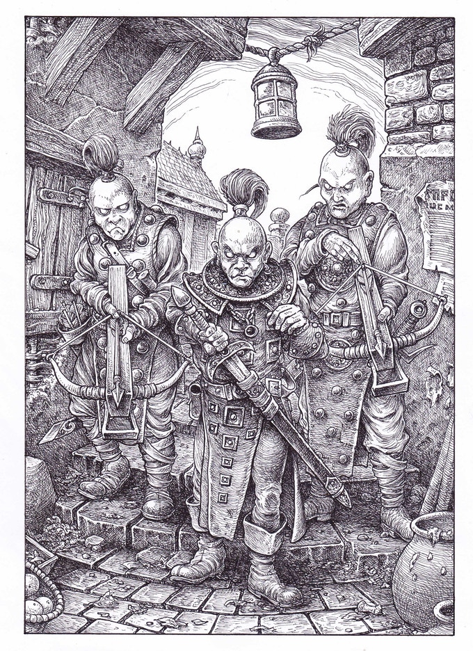 New Collector's Edition interior illustration (section 241)  by Gary Chalk for Megara Entertainment