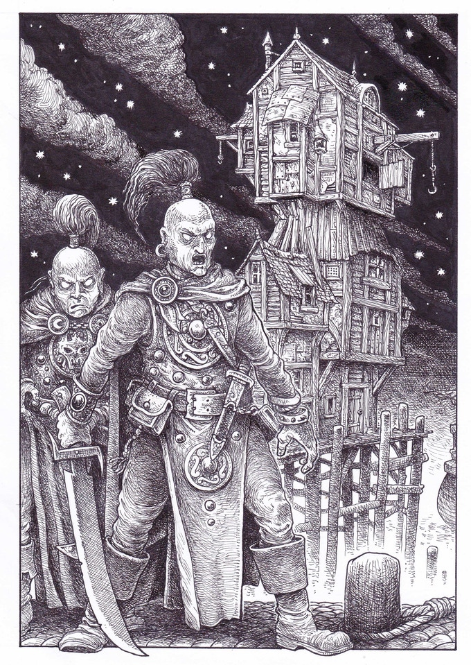 SOLD - NO LONGER AVAILABLE - New Collector's Edition interior illustration (section 100)  by Gary Chalk for Megara Entertainment