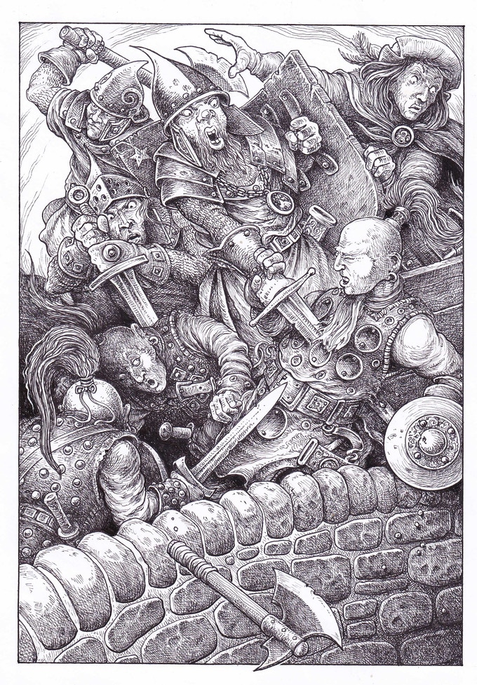 New Collector's Edition interior illustration (section 39)  by Gary Chalk for Megara Entertainment