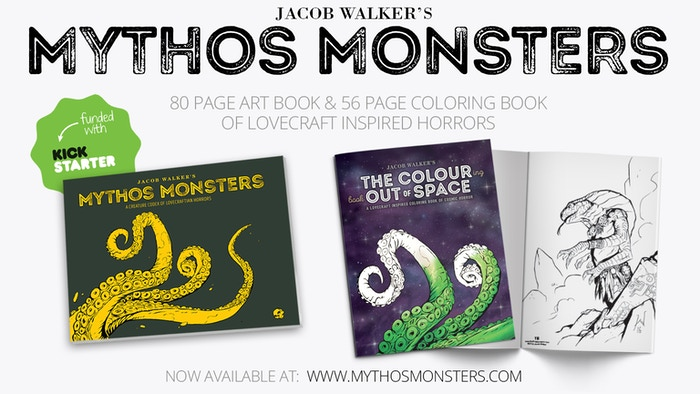 I have collected my daily Lovecraft drawings and a few paintings into a 80 page high quality art book and accompanying coloring book.