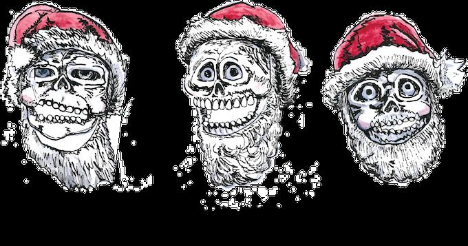 Santa Skull Sticker art reward