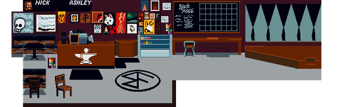 Black Forge Coffeehouse in beautiful 16 Bit form!