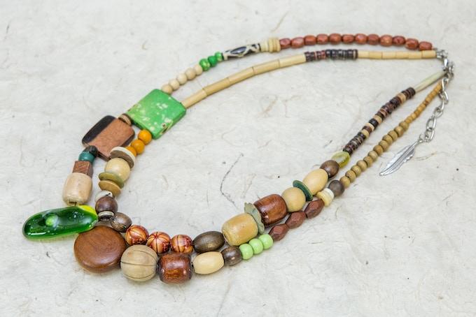 Collier avec Verre Fusionné - Necklace with Fusing Glass