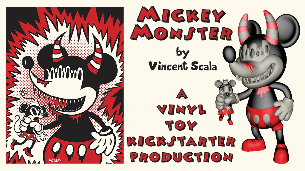 "Mickey Monster 6"" Vinyl Toy project video thumbnail"