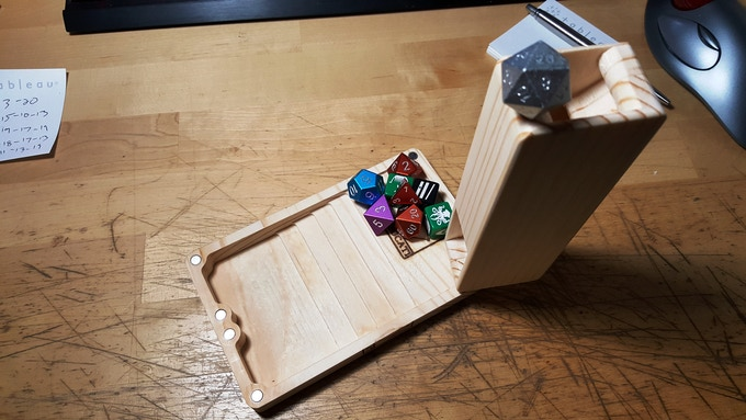 Set some dice aside on the royal landing at the base of the FLUME... and roll that special die...