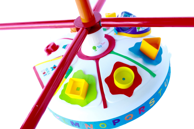 Built-in music and shape toys