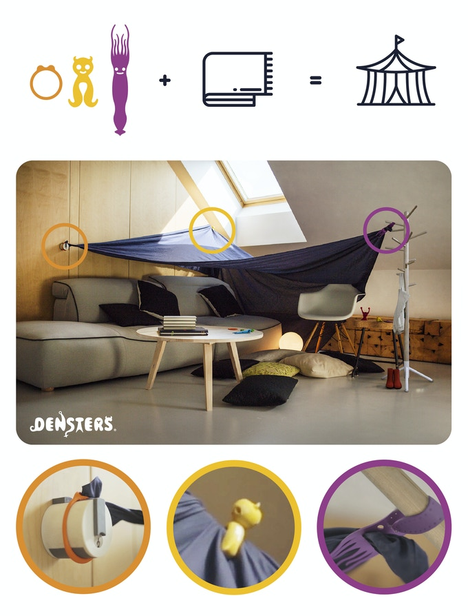 Hoopsta, Cheekaboo and Wizetta will impress adults and children with their stylish den!