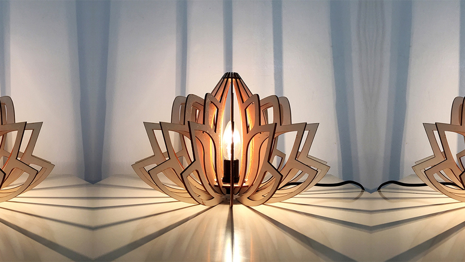 100% eco-friendly wood lamps made in Paris. Let them shine in your heaven of peace.