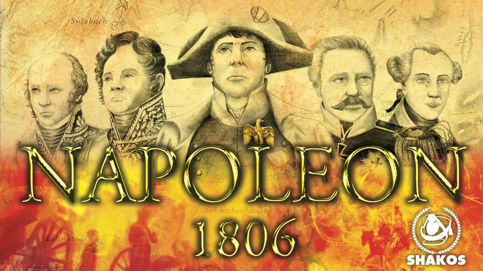 Rewrite history - Napoléon 1806 - the 1806 prussian campaign - boardgame  for two players.