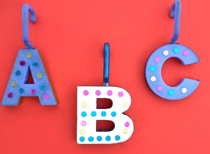 """""""A,B,C"""" Ornaments"""