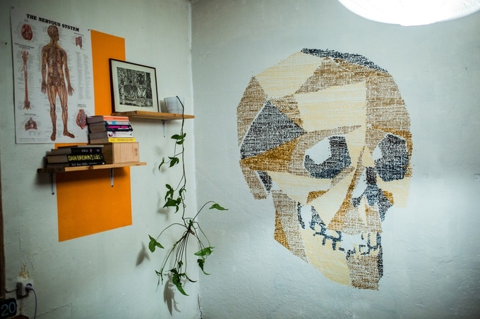 A badass scull by Finnish artist Jukka Hakanen from our collection of ready-made designs