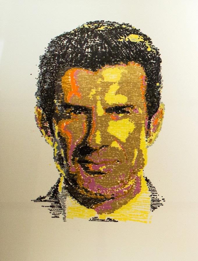 Portrait of the soccer legend Luis Figo