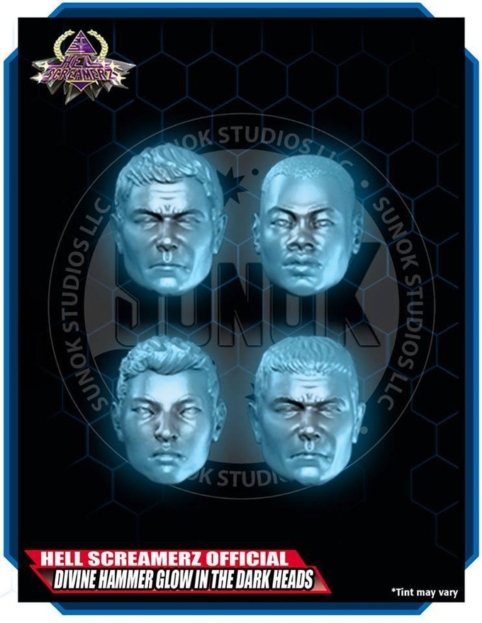 Divine Hammer Glow in the Dark Head Pack (4 different heads)