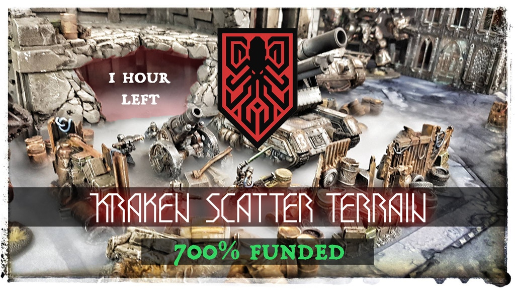 Kraken Scatter Terrain - for 28 mm tabletop wargames project video thumbnail