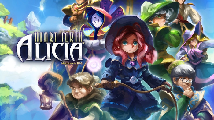 Heart Forth, Alicia is a Metroidvania RPG about a young wizard pursued by a terror in the sky.