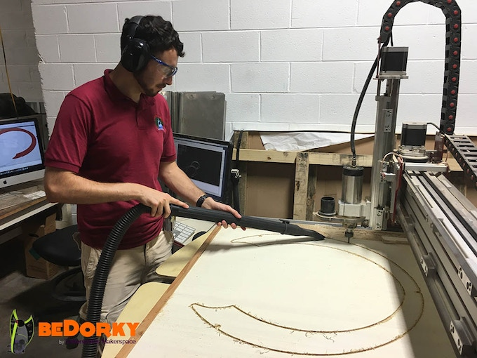 Tinkersmiths 4'x8' CNC Accurately Cutting Parts